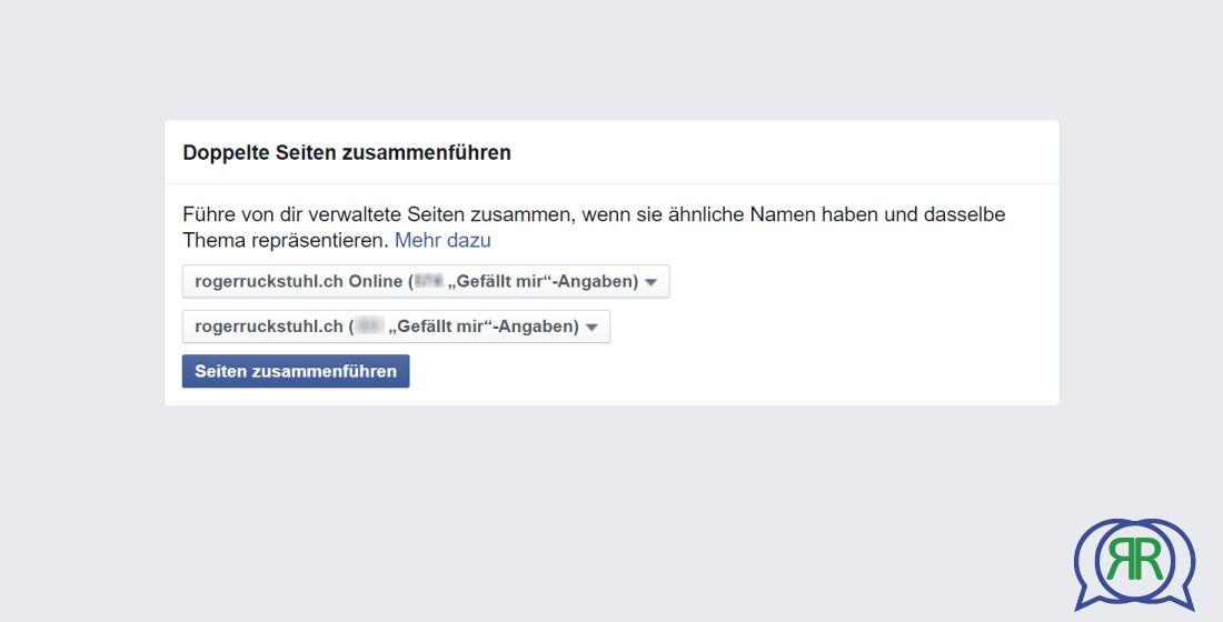 Facebook Fanseiten zusammenführen