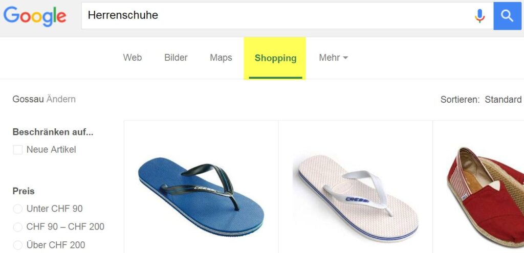 Google Shopping 1