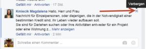 Facebook Spam melden 1