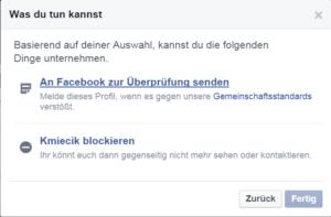 Facebook Spam melden 10