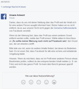 Facebook Spam melden 12