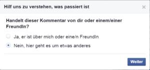 Facebook Spam melden 3
