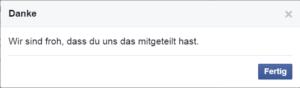Facebook Spam melden 5