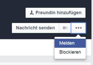 Facebook Spam melden 6