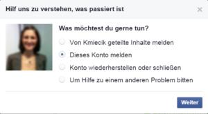 Facebook Spam melden 7
