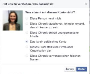 Facebook Spam melden 8