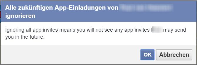 Facebook Spieleanfragen blockieren 3
