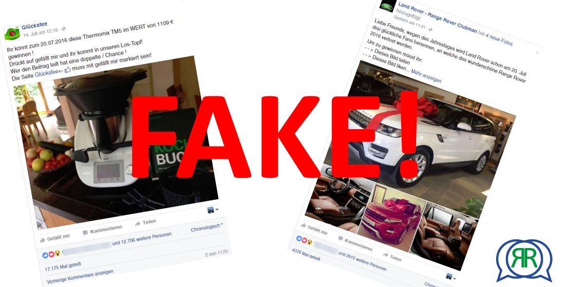 Facebook Fake-Gewinnspiele