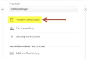 Analytics Property in anderes Konto mirgrieren 1