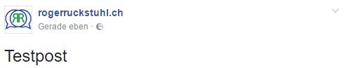 Profilbild für Fanseite Miniansicht mit Testpost