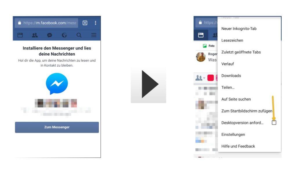 Facebook Nachrichten ohne Messenger nutzen
