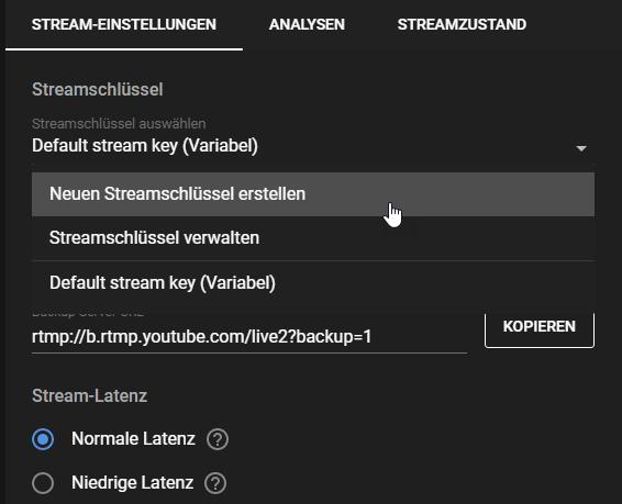 YouTube mehrere Streams starten02