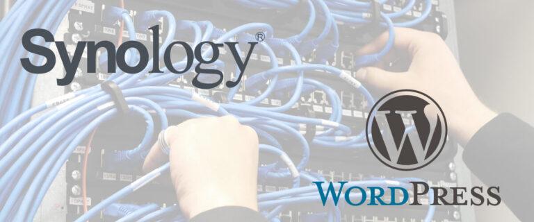 Synology automatisiert Backup erstellen von Wordpress