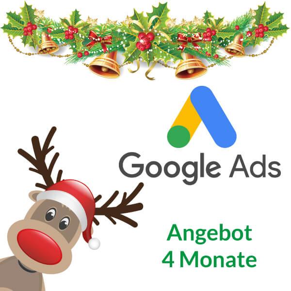 Weihnachtsangebot Google Ads 4 Monate