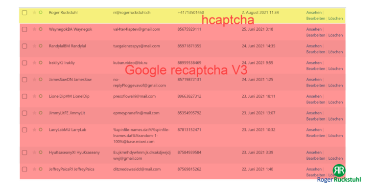Google reCAPTCHA vs. hCaptcha