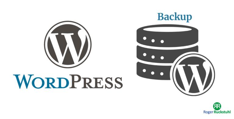 WordPress backup manuell durchführen